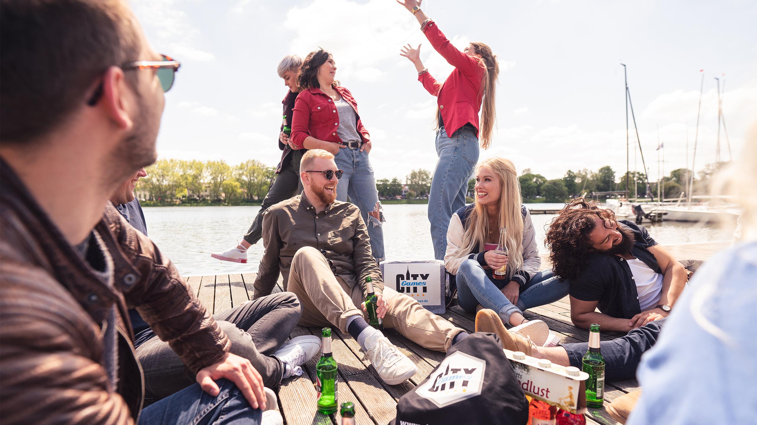 CityGames Leipzig Sightseeing Party Tour: ausgelassene Partygruppe